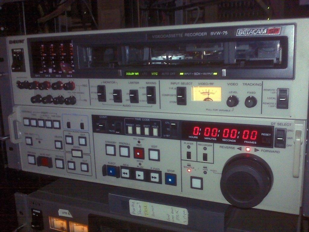 1440px Sony Betacamsp Bvw 75 Editing Vtr