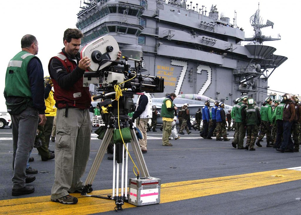 1512px Us Navy 040615 N 6817c 030 A Camera Crew Sets Up For Scenes To Be Taped On The Flight Deck For The Upcoming Motion Picture Stealth