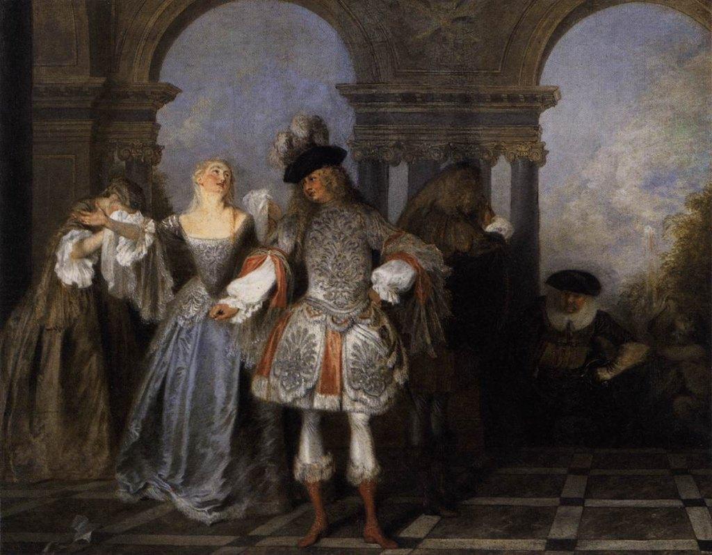 Antoine Watteau Actors From The Comédie Française Wga25475