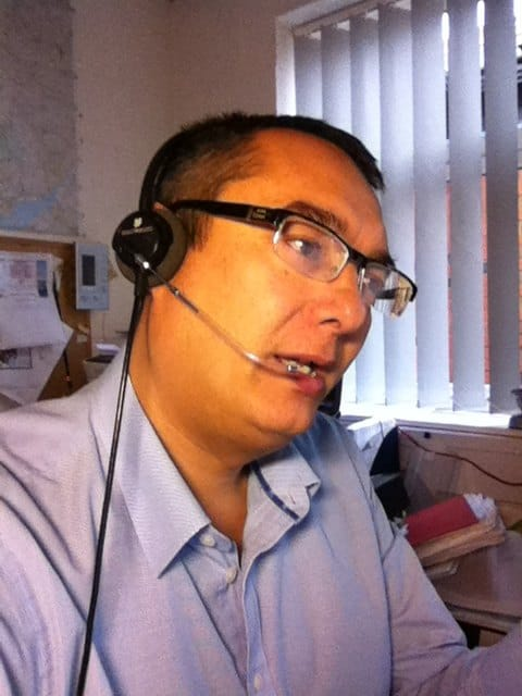 Plantronics Headset In Use On Hp500