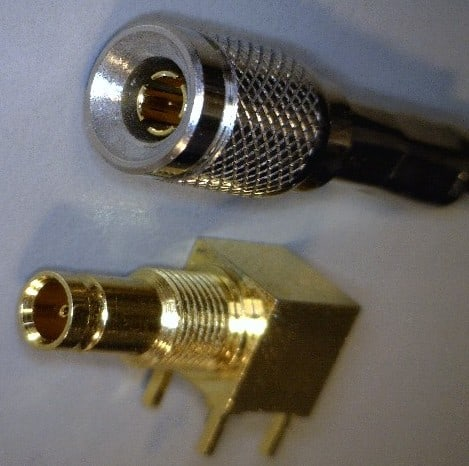 Din 1o0 2o3 75Ω Male And Female Connector