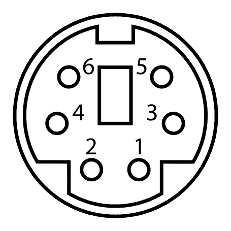 Minidin 6 Connector Pinout
